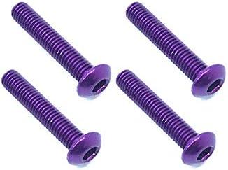 Square R/C RC Model Hop-ups SQ-NAR-316P M3 x 16mm Aluminum Button Head Hex Screws (Purple) 4 pcs. | Moderne Et élégant à La Mode