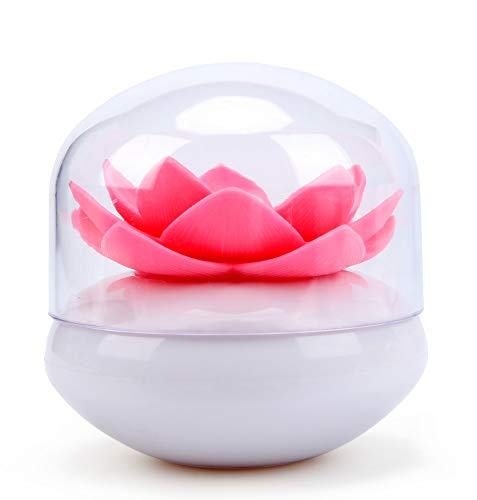 Bloss Lotus Wattestäbchen-Halter, kleine Q-Tips Zahnstocher Aufbewahrung, Organizer, rosa 1 (Ball-küche Kanister)