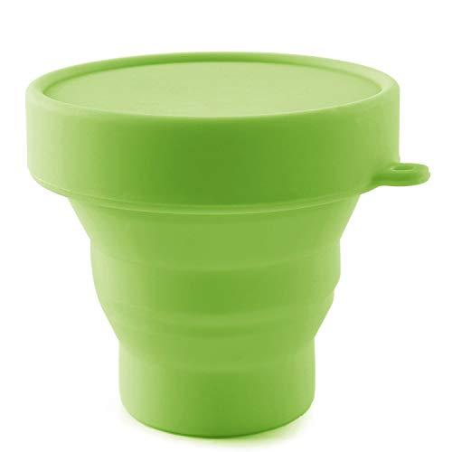 AvaLoona Menstruationstasse Reinigungsbecher faltbar - Sterilisierbecher für Aufbewahrung und Reinigung (Grün)