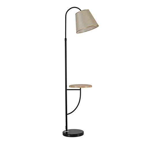 *Stehlampe Stehlampe, Stoff Lampenschirm gebogen mit Couchtisch Stehlampe Nachttisch Wohnzimmer Schlafzimmer Teleskop Couchtisch vertikale Stehlampe Stehlampe gewölbt (Color : Remote dimming)