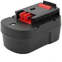 KINSUN Utensili Elettrici Batteria 14.4V 2.0Ah Per Black & Decker Trapano Senza Cordone Driver di Impatto A14 A144 A144EX A14F BD146F3 B-8316 BD1444L BPT1048 HPB14 499936-34 499936-35 FIRESTORM FS140BX FSB14 FS14PSK