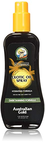 Australian Gold Dark Tanning Exotic Oil Spray, 10295, 1er Pack (1 x 0.237 l) - Oliven-Öl-gel