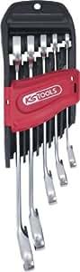 KS Tools 503.5905 Lot de 5 clés mixtes à cliquets DUO GEAR 8-10-13-17-19