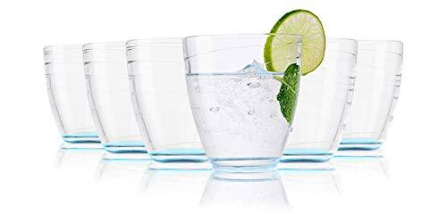 Vasos de agua Tivoli Sofia - 280 ml - Set de 6 - Vasos de alta calidad