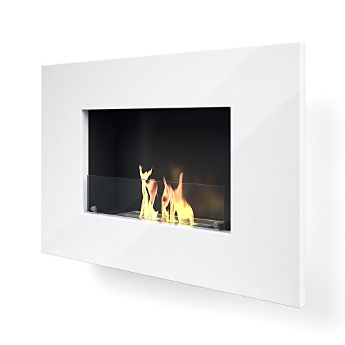 Imagin Arlington-White Wall Mounted bioethanol Fireplace