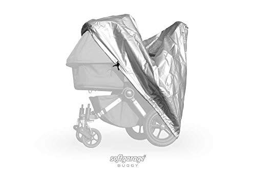 softgarage buggy alucush silber Abdeckung für Kinderwagen Teutonia Mistral S Regenschutz Regenverdeck