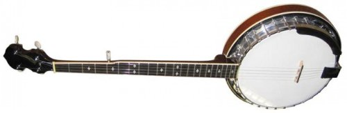 Stagg bjm30-string Bluegrass Banjo Deluxe mit Metall Pot 6 Saiten, Linkshänder chrome