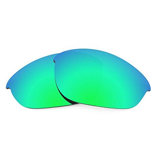 Verres de rechange pour Oakley Half Jacket Asian Fit — Plusieurs options Vert Emeraude MirrorShield® - Polarisés