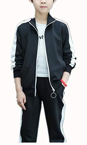Jungen Trainingsanzug Jacke,2PCS Jungen Jacke Sportanzug Trainingsanzug Jacke Bomerjacke Hose Sport Kapuzenpulli Hosen Jogginghose