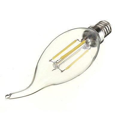 FDH 4W E12 Luces de velas LED C35 4 COB 380 lm blanco fresco regulable 110-240 V CA 1 PC