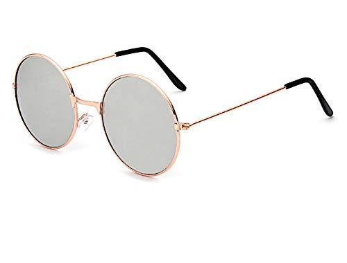 Sonnenbrille Unisex Rund Hippie Brille John Lennon getönt 400UV langer Steg gelb grün