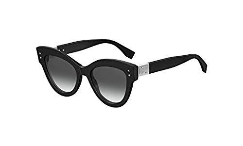 Fendi ff 0266/s 9o 807 52, occhiali da sole donna, nero (black/grey)