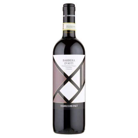 Vino Rosso Barbera d'Asti DOCG Terredavino Bottiglia 75 cl - 6 Bottiglie