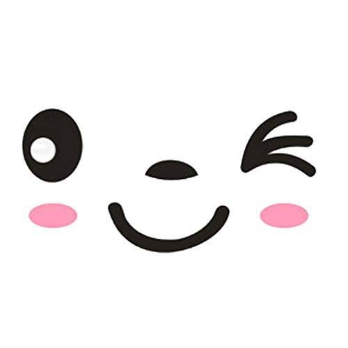 Aiming Grandes Ojos sonrientes Etiqueta de la Pared de la Cara Adhesivos Interruptor de baño decoración de la Pared