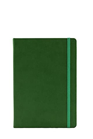 Collins Legacy A5 Hard Cover Notebook, 240 80gsm Ruled Pages - Green Cover