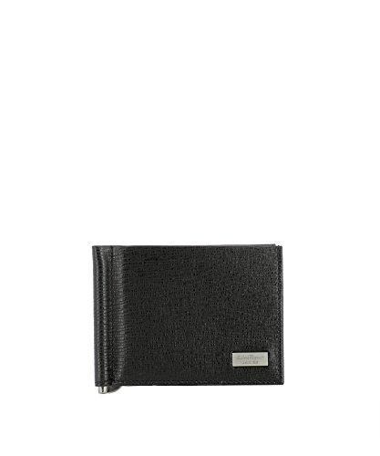 Salvatore Ferragamo Herren 0636186 Schwarz Leder Brieftaschen (Brieftaschen Herren Ferragamo)