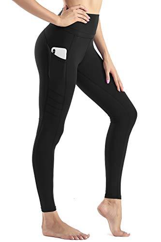 Wirezoll Sport Damen Leggings, Lange Blinkdicht Yoga Hose Sporthose Fitnesshose mit Taschen -