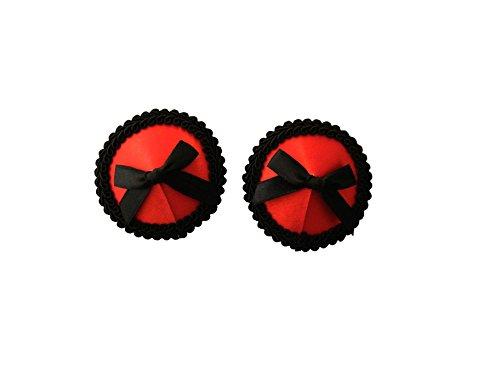 Czj-Innovation Femme Pasties Réutilisable Cache-tétons Rouge