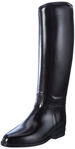 HKM Damen Standard-mit Elastikeinsatz Reitstiefel, Schwarz, 40