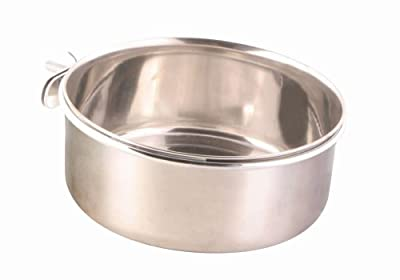 Trixie Stainless steel bowl with screw attachment, 900 ml/ø 14 cm