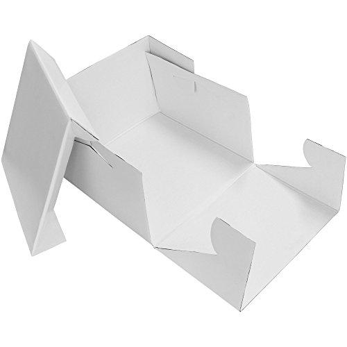 PME quadratisch Kuchen Box, Pappe, weiß, 12-inch