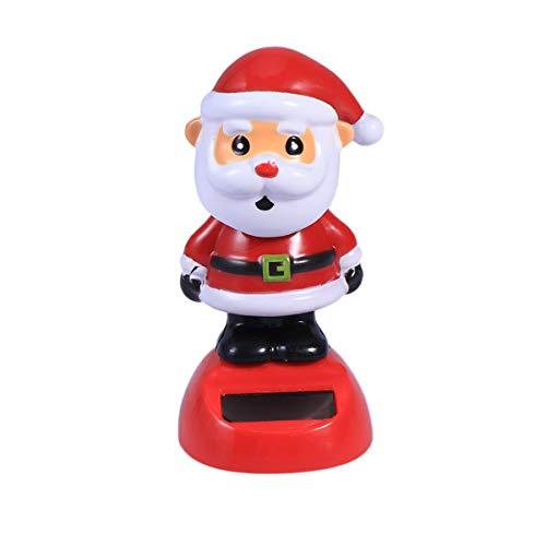 STOBOK Solaire balançoire Jouets noël Santa Claus Voiture Tableau de Bord Jouet Voiture Affichage intérieur Ornements de poupée de noël