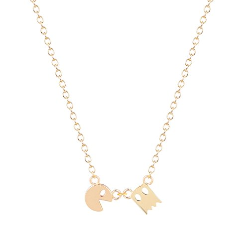 new-style-unique-pac-man-necklace-for-women-and-girls-collares-fashion-jewelry-gift-gold