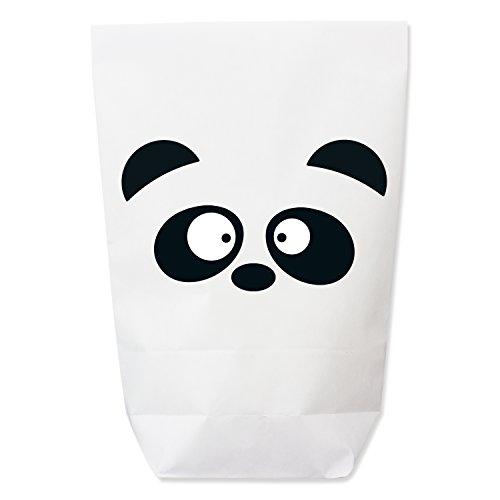 KuschelICH DIY Geschenktüte Pandabär Set - Kindergeburtstag - Mitgebsel - Gastgeschenk - Papiertütchen für Party - Qualität aus Deutschland (12 -er Set)