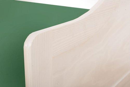 Massivholzbett Jugendbett 90x200 cm Kinderbett Bett Funktionsbett Kojenbett Ausziehbett in weiß mit ausziehbarer Bettkasten - 6