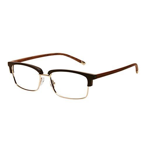 Xinvision Frau Männer Retro Klassisch TR90 Halber Rahmen Horn Rimmed Geschäft Brille Semi-Rimless Kurzsichtigkeit Spectacles Kurzsichtig Eyeglasses -0.5~-6.0 (Dies sind keine Lesebrillen)