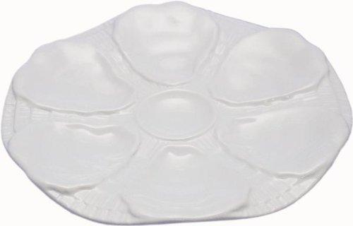 Porzellan-Austernteller für 6 Austern, 25 cm