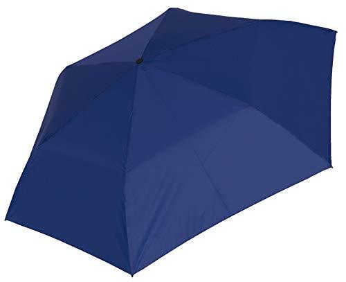 Baciami Mini Regenschirm Damen & Herren und Kinder - Kleiner Taschenschirm, Kompakt, Handlich, Leicht, ⌀ 87cm - Blau