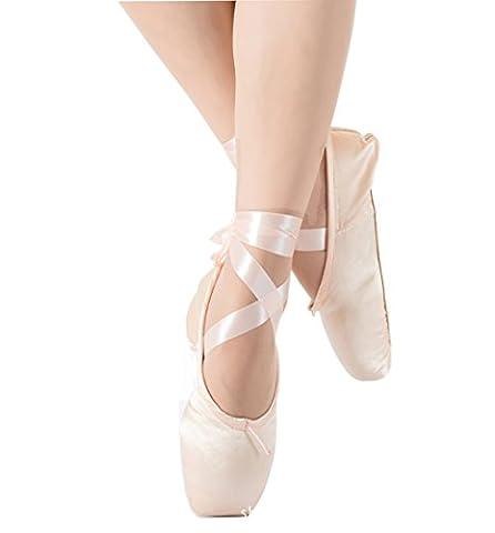 ELE GENS Damen Mädchen Spitzenschuhe Ballettschläppchen Ballettschuhe Tanzschuhe Ballett Trainings