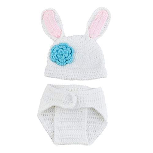 fie Outfits Kaninchen Kostüm Neugeborenen Strick Outfits Hut ()