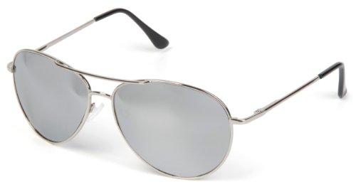 styleBREAKER Sonnenbrille verspiegelt, Aviator Pilotenbrille getönt mit Federscharnier, -