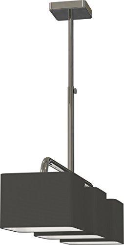 Miro Ranex Designer Hängeleuchte, 3-flammig, hochwertiger Stoffbezug, Lange 100 cm, metall chromfarbig 6000.478 (Esstisch Serie)