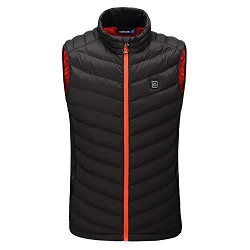 Elektrisch beheizte Weste männer Frauen USB Lade Jacke Mantel Kleidung Skifahren Winter warm heizkissen Body wärmer Mantel-Schwarz_4XL