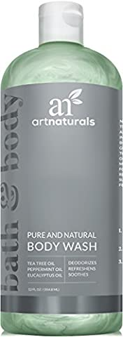 ArtNaturals Essential Bath and Body Wash – 355ml - Antifungal Shower Gel - Tea Tree, Peppermint and Eucalyptus Oil - Natural Eczema Soap for Anti fungal Feet, Helps Kill Nail Fungus, Athletes Foot, Ringworm, Jock Itch and
