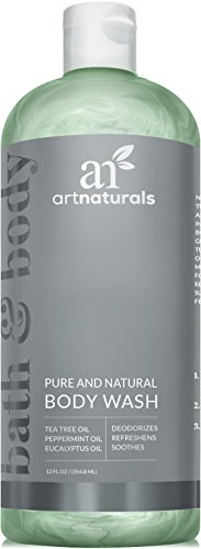 ArtNaturals Essential Bath and Body Wash – 355ml - Antifungal Shower Gel - Tea Tree, Peppermint and Eucalyptus Oil - Natural Eczema Soap for Anti fungal Feet, Helps Kill Nail Fungus, Athletes Foot, Ringworm, Jock Itch and Odors