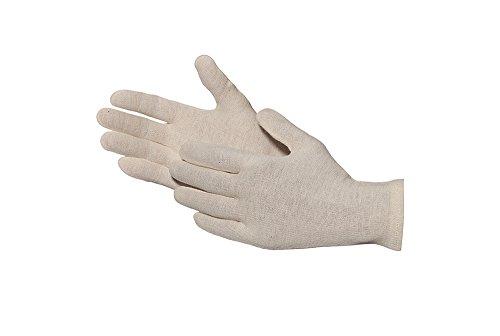 Jah 826 Baumwollhandschuh 12 Paar oekotex leicht natur Gr. 10 - Weiße Baumwoll-arbeitshandschuhe