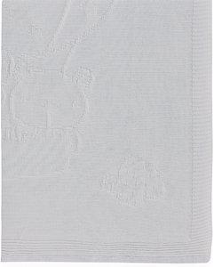 Pirulos Globo - Toquilla tricot, algodón, 95 x 95 cm, color gris