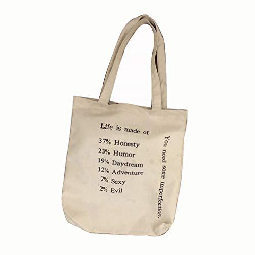 Frauen Umhängetasche Mode Süße Brief Leinwand Tote Große Kapazität Trendy Tote Bag Einkaufstasche,zipperstyle