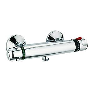 DP Grifería TTCA0001 Grifo termostático de ducha, Plateado