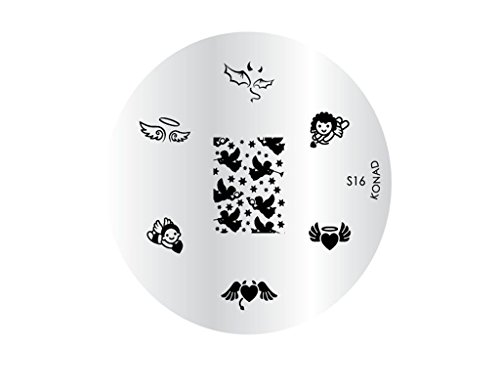 Plaque disque motifs S16 Konad stamping nail art Theme anges