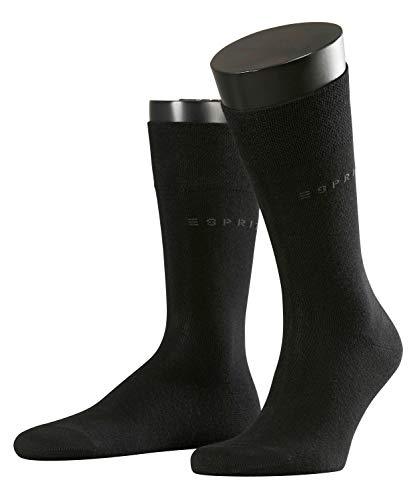 ESPRIT Herren Basic Easy SO2P Socken Herrensocken, Blickdicht, Schwarz (Black 3000), 43/46 (43-46) (2er Pack) -