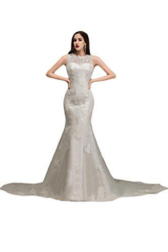 Sunvary, con guaina, senza uscita per abiti da matrimonio, motivo: chiesa, lingua inglese White