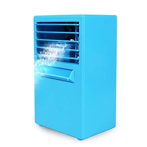 Amandai Uso Personal del acondicionador de Aire del refrigerador de Aire de Ministerio del Interior sin Cuchilla del Escritorio Ventilador Enfriador