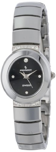 Peugeot Women's PS529 Swiss Tungsten Carbide Crystal Row Watch