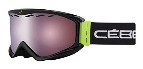 Cébé Unisex Erwachsene Skibrille Infinity Otg Green Curve/Dark Rose Flash Mirror