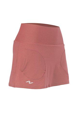 Naffta Basic - Falda-short para mujer, color coral medio, talla XS